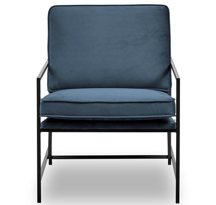 Billige lænestol i velour og stål