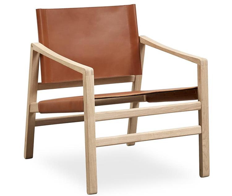 Prisvenlig lænestol i dyrt design