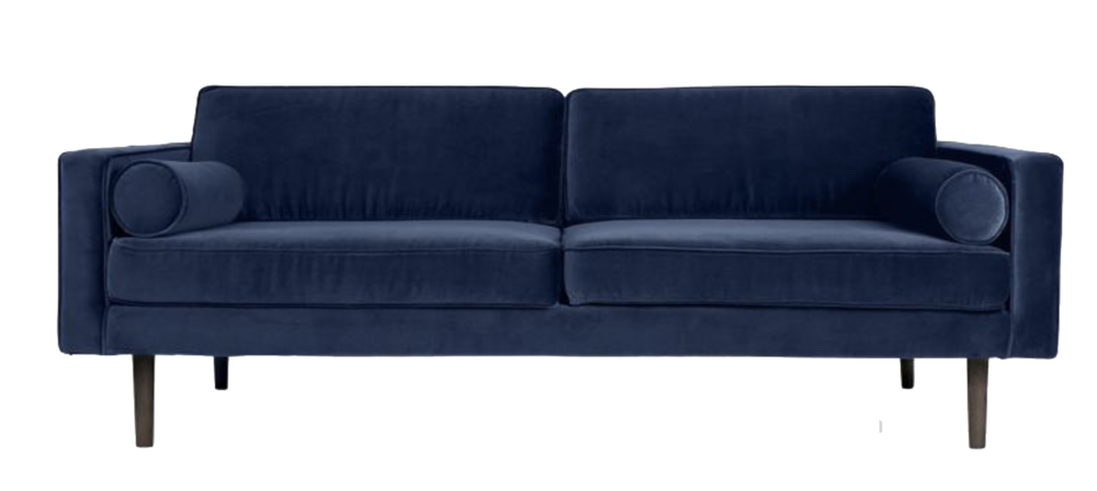 billig velour sofa