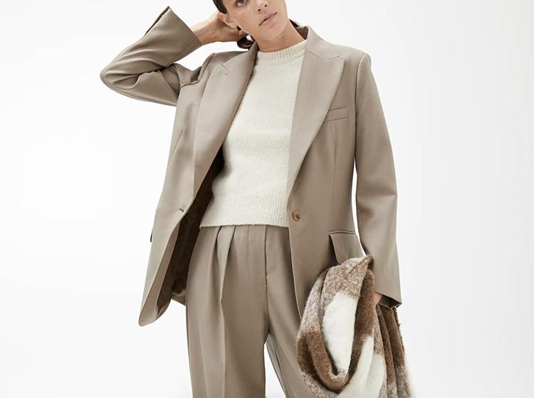 Kvalitetspræget jakkesæt til den klassiske kvinde