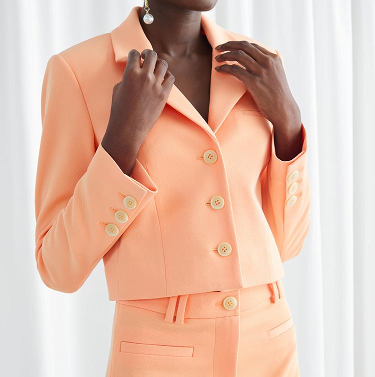 Orange 30'er inspireret jakkesæt til kvinder