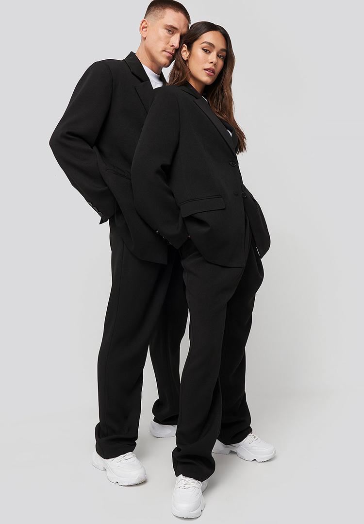 Oversize boyfriend jakkesæt til kvinder