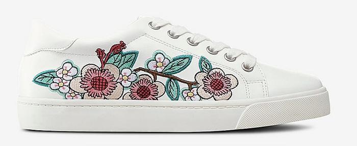 Blomstrede sneakers til kvinder