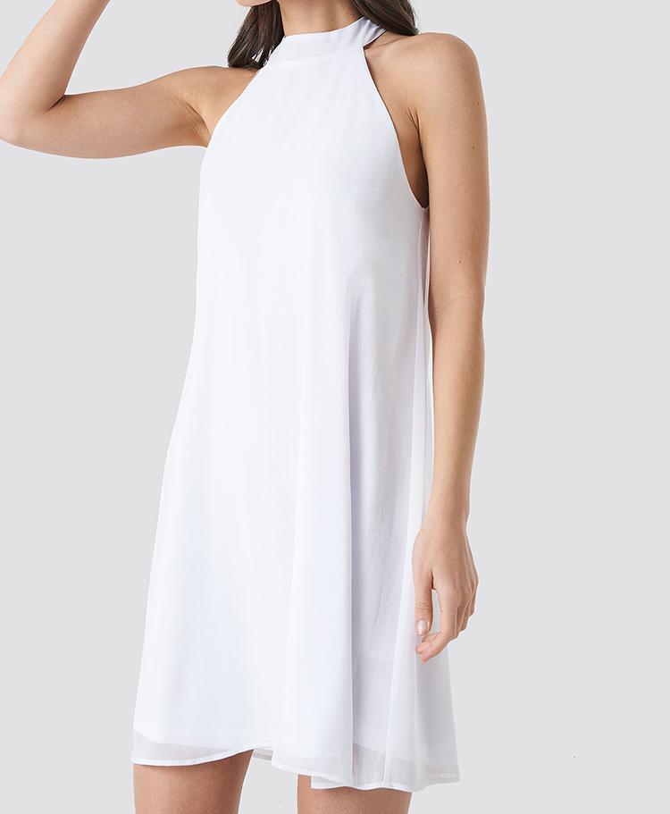 Elegant hvid sommerkjoler