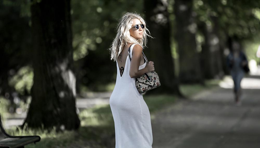 lange hvide sommerkjoler