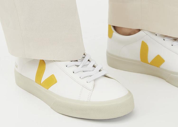 Lækre sneakers med et gult pift