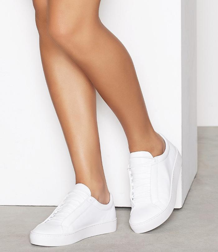 Minimalistiske sneakers i skind