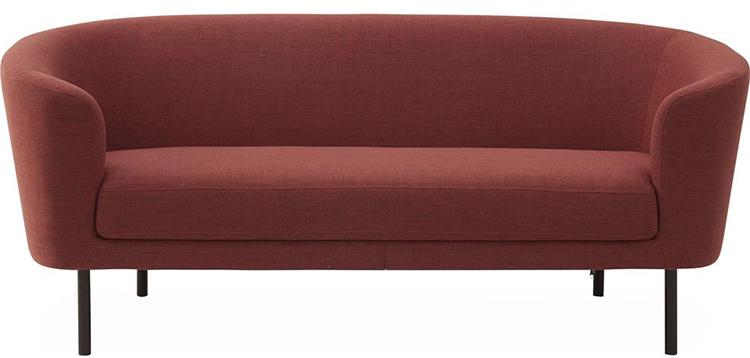 Billige sofa med rødt stofbetræk