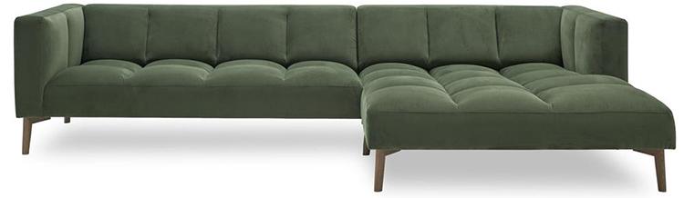 Flot grøn chaiselongsofa