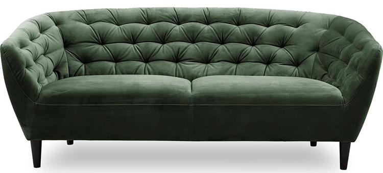 Klassisk velour sofa i ægte morfar stil