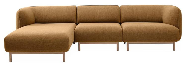 Moderne og lækker chaiselong sofa i smuk farve