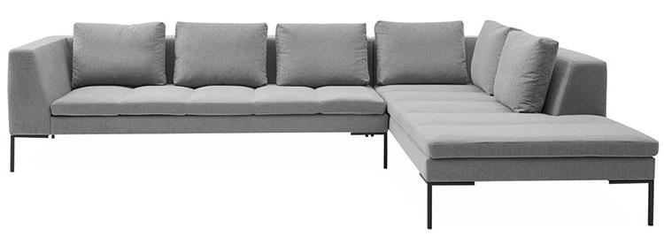 Moderne og minimalistisk hjørnesofa