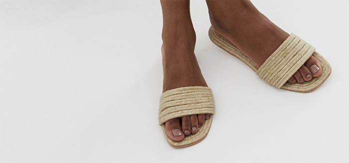lækre sandaler i hør