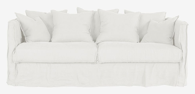 Smuk neutral sofa i romantisk design