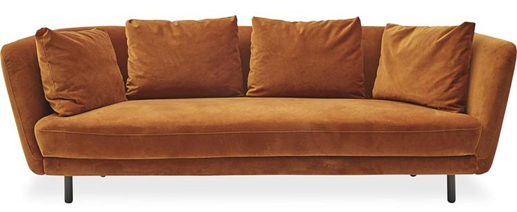 Smuk gylden Velour sofa
