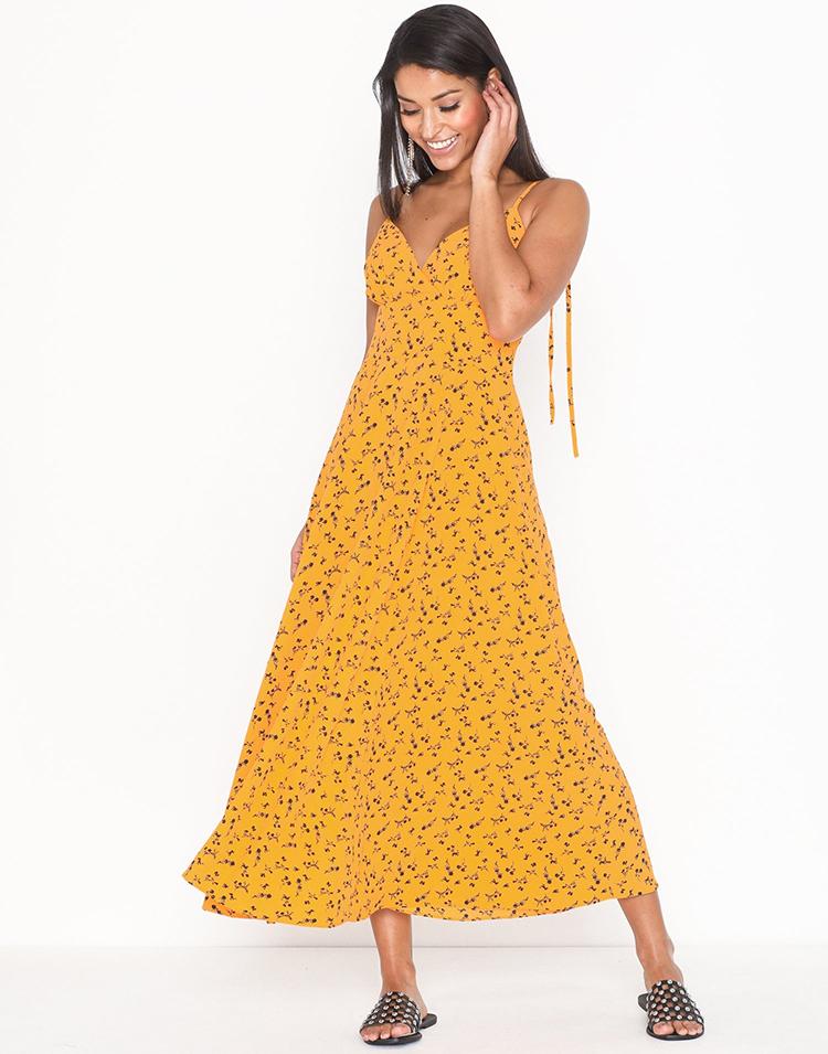 gul sommerkjole