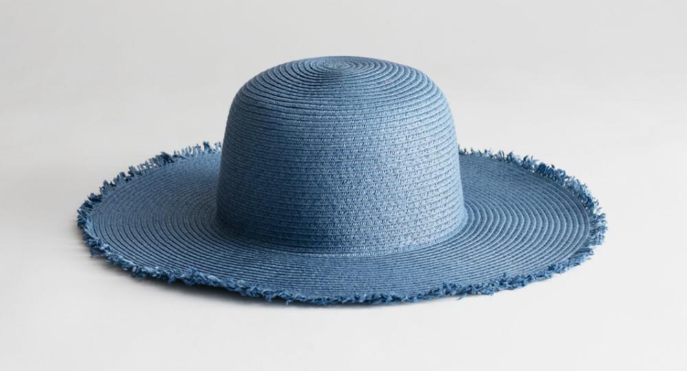 sød blå sommerhat