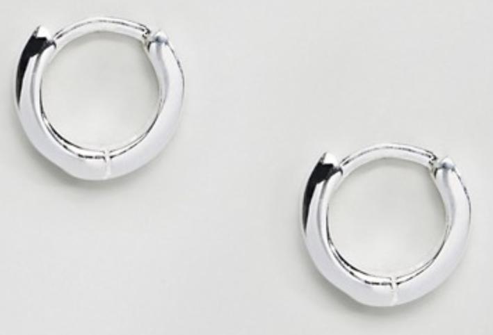 Runde øreringe i sterling sølv