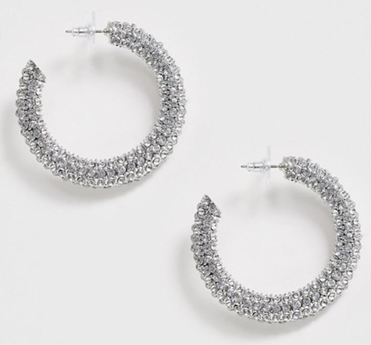 Store flotte diamant hoops