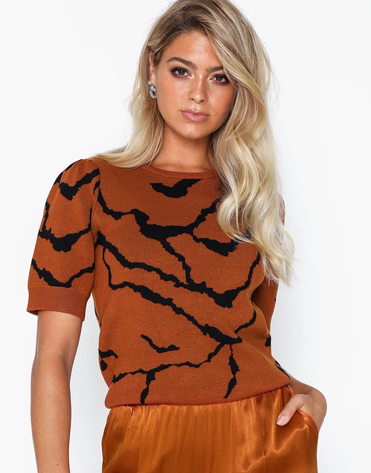Flot bluse der vækker tigeren i dig