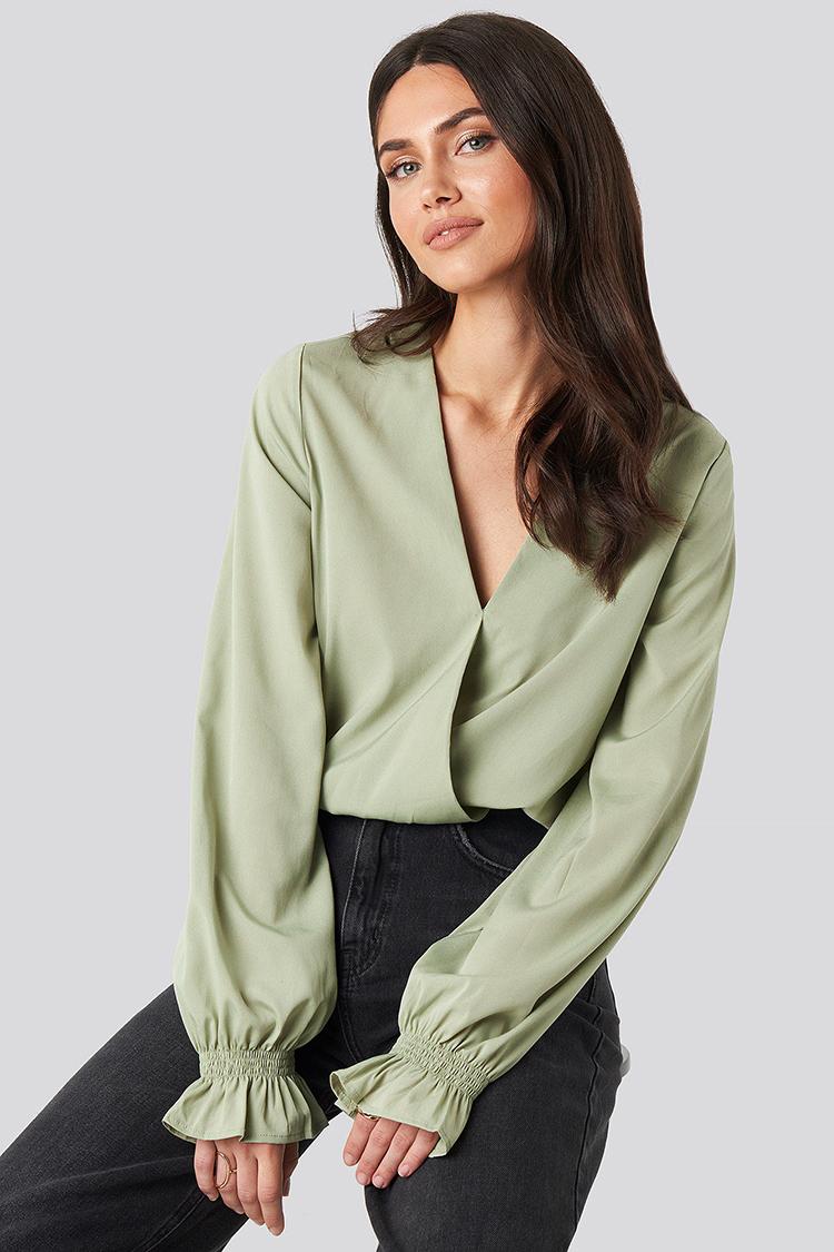 olivengrønne flotte bluser og toppe