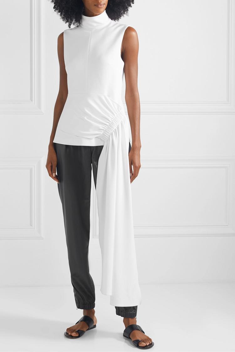Luksuriøs hvid bluse