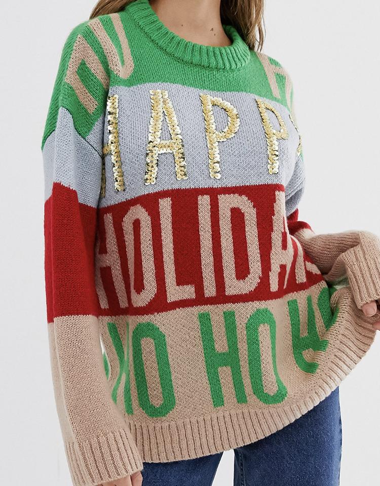 Flot julesweater i friske farver