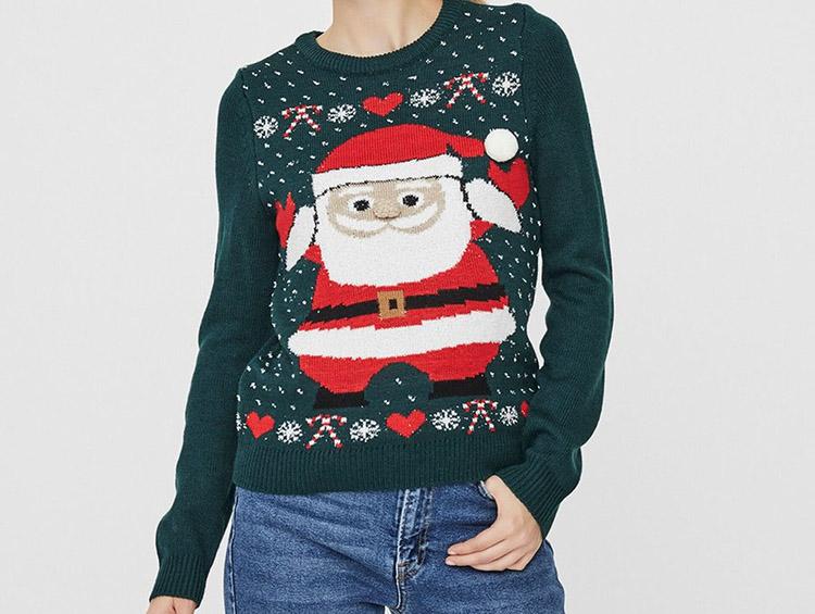 Grøn julemands-sweater