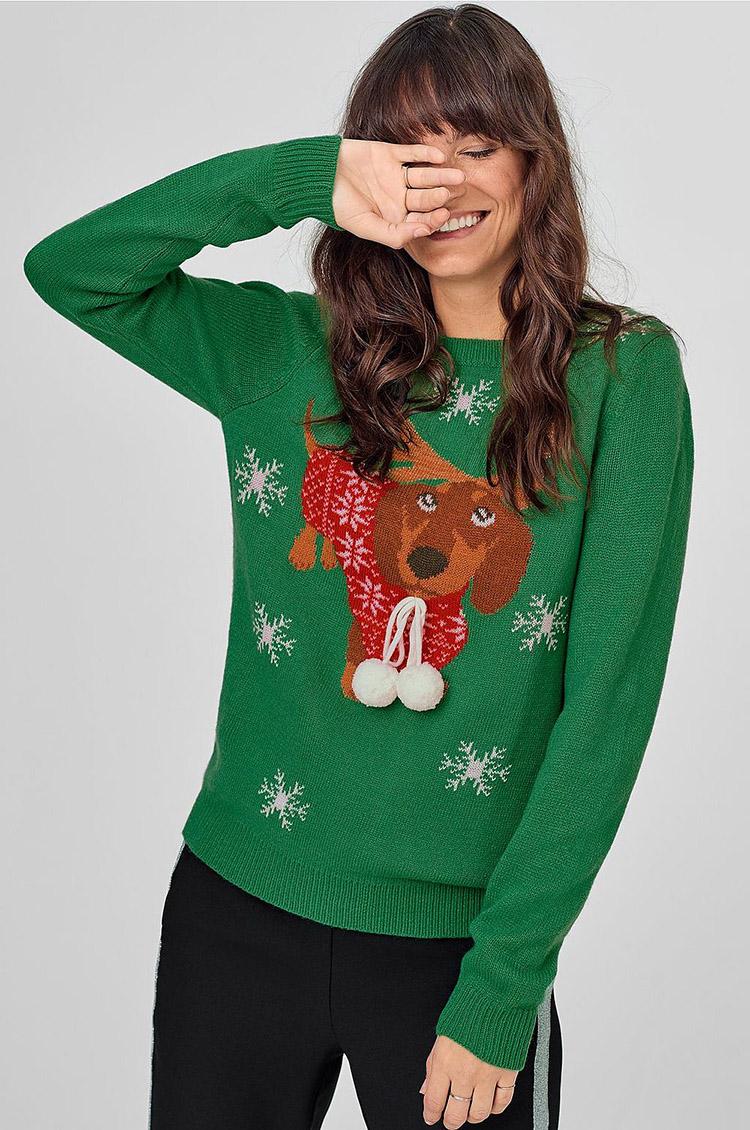 Julesweater med julede gravhund