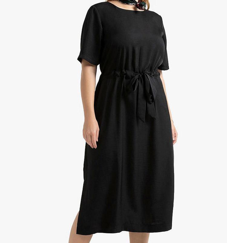 Lang minimalistisk nytårskjole til store piger