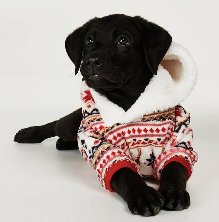 Onesie med juleprint til din hund