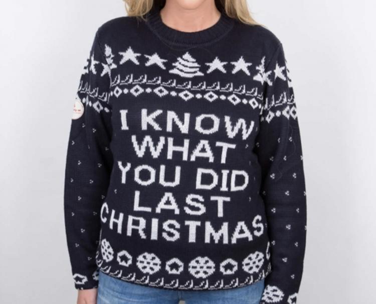 Uhyggelig julesweater til kvinder