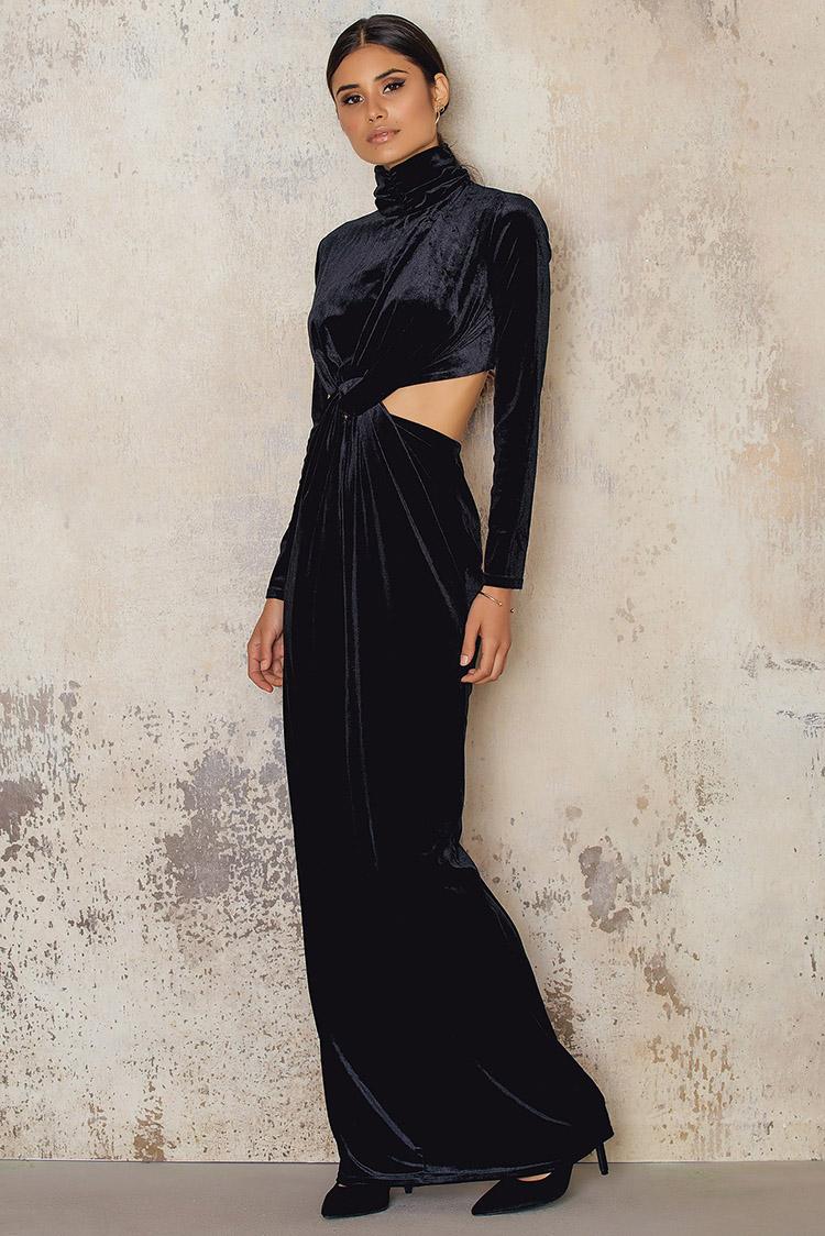 elegant velour kjole