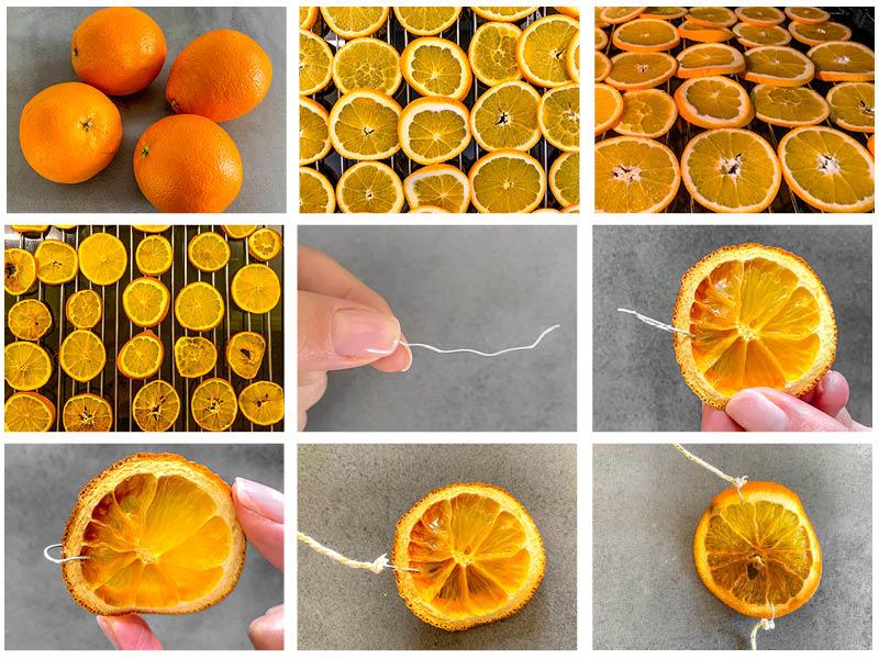 appelsin guirlande