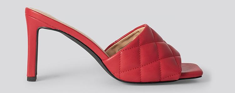 Fede røde sandaler med hæl