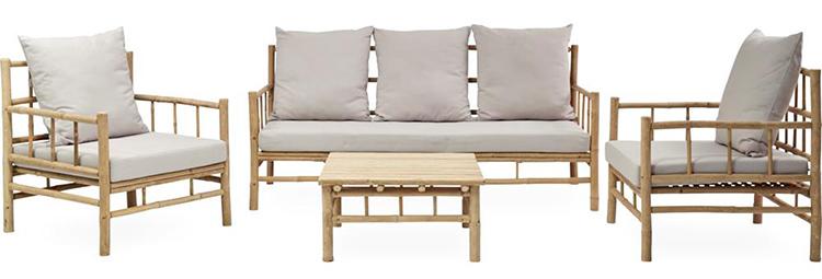 Kvalitetspræget og prisvenligt loungesæt i bambus