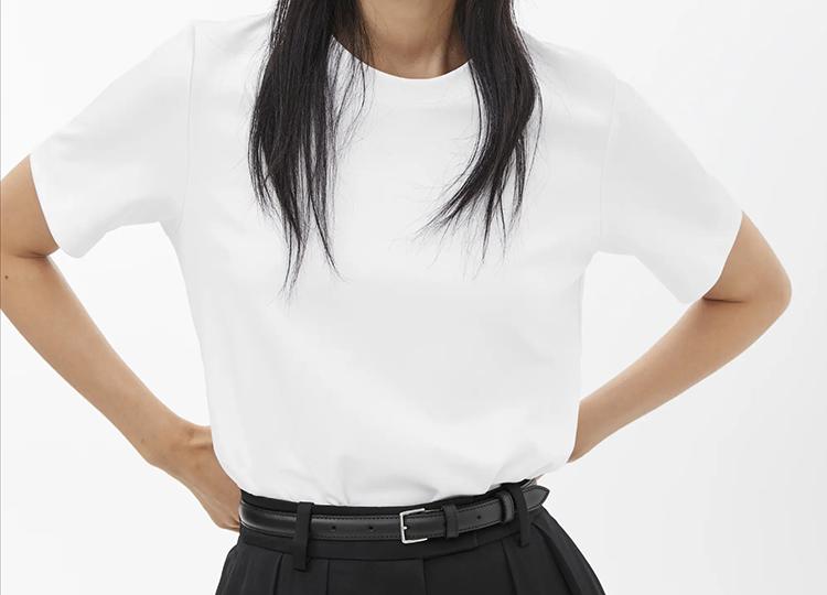 Lækker hvid t-shirt i høj kvalitet