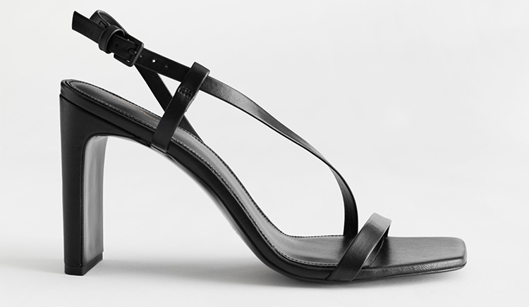Lækre minimalistiske højhælede sandaler