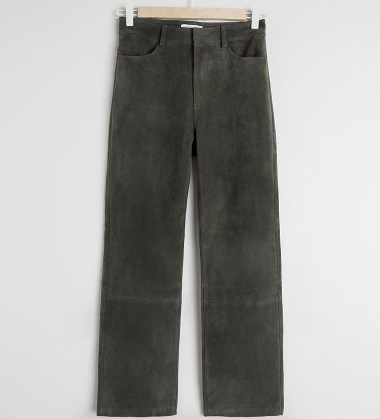 Lækre rustikke ruskindsbukser til kvinder