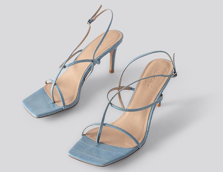 Raffinerie højhælede sandaler med spinkle stroppe