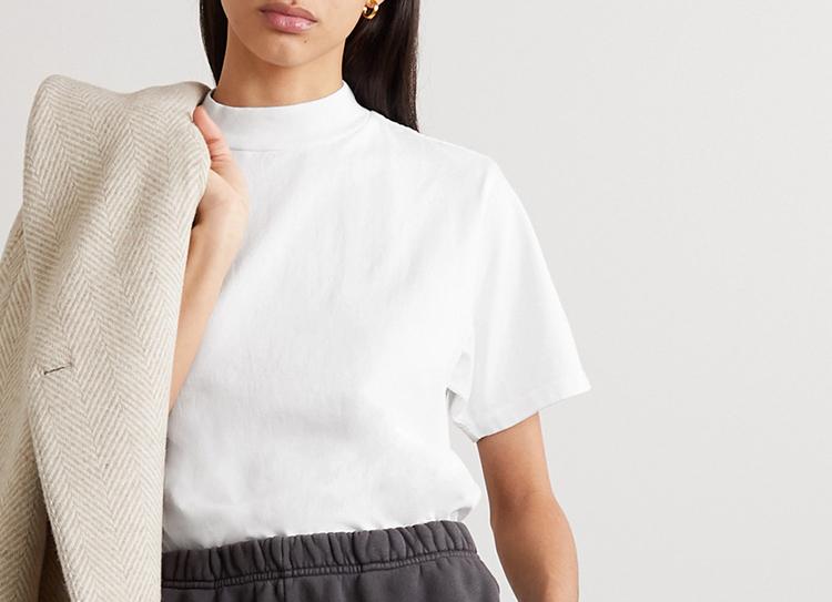 Smuk højhalset t-shirt til kvinder
