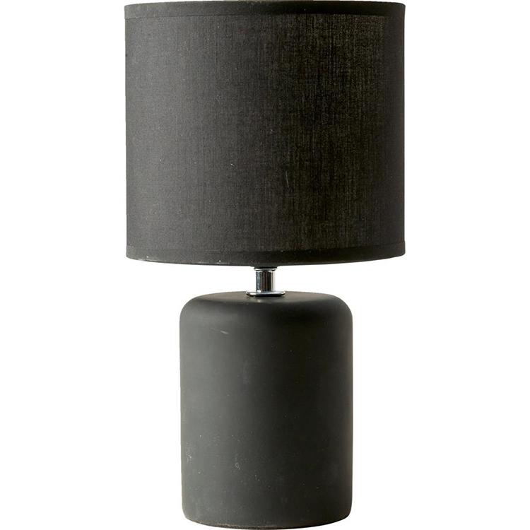Billig og flot bordlampe i støvet sort