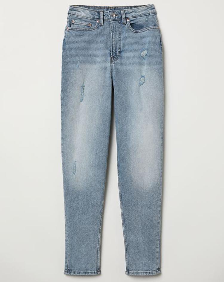 Billige lyseblå Mom jeans