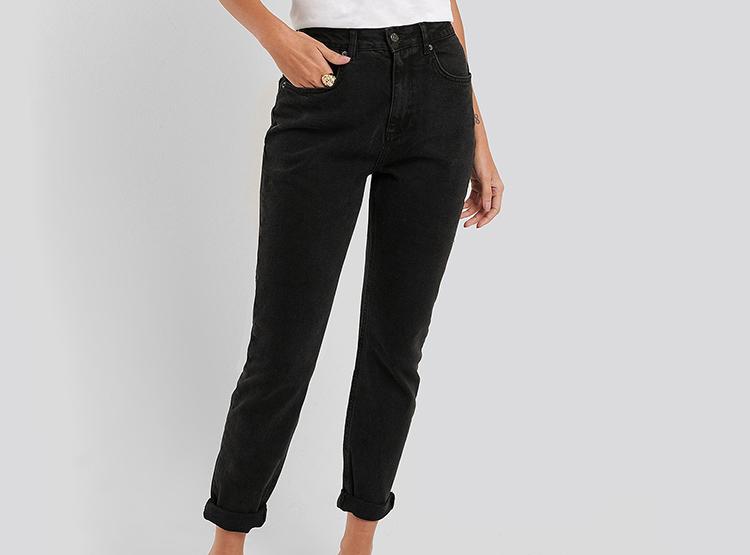Flotte sorte mom jeans