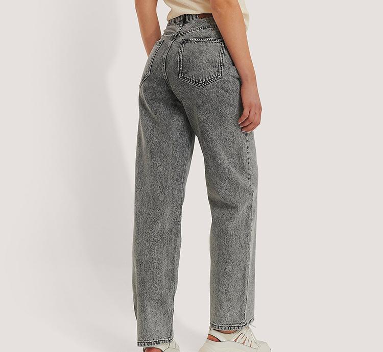 Grå jeans med vidde ben