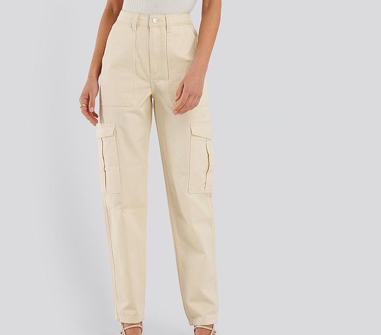 Lyse denim jeans med lommer