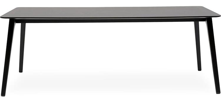 Minimalistisk sort spisebord