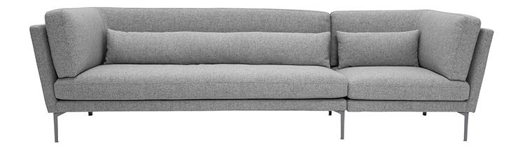 Moderne og flot sofa i grå uld