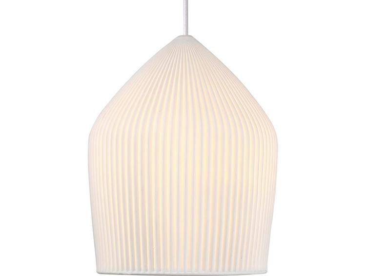Prisvenlig og dekorativ lampe med hvid lampeskærm
