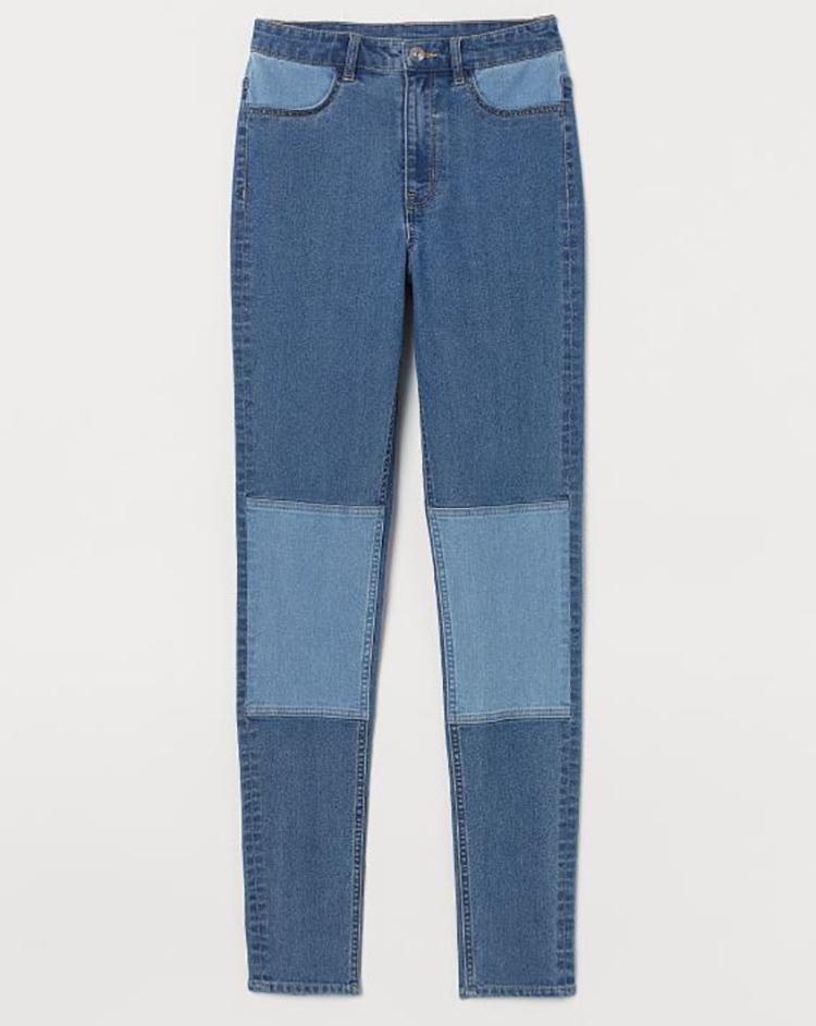 Skinny jeans med lapper